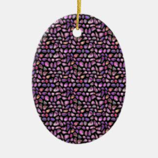 Vivid Gemstones Ceramic Ornament
