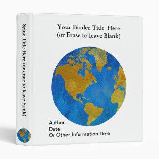 Vivid Globe Featuring the Americas Vinyl Binders
