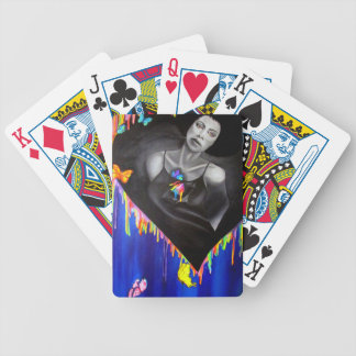 vivid heart bicycle playing cards