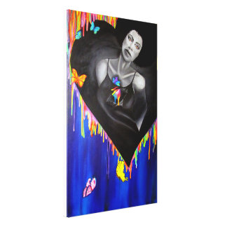 Vivid heart canvas print