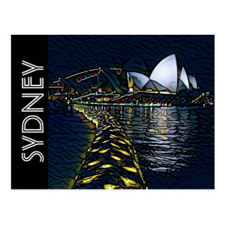vivid house sydney postcard