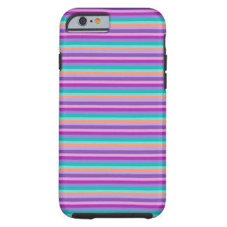 Vivid iPhone 6/6s, Tough Purple Stripes Tough iPhone 6 Case