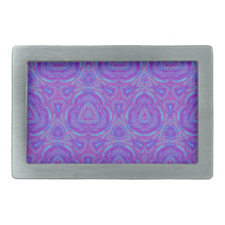 Vivid Kaleidoscope Rectangular Belt Buckles