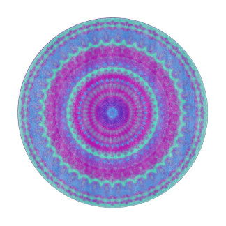 Vivid Mandala Cutting Board