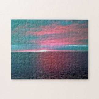 Vivid Ocean Sunset Puzzle