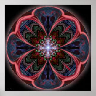 Vivid Petals Mandala - Print
