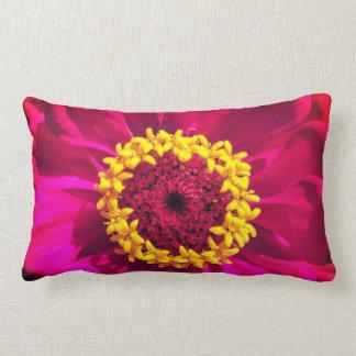 Vivid Pink and Red Lumbar Pillow
