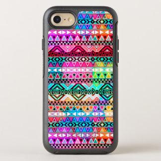 Vivid Pink Aztec Tribal Pattern OtterBox Symmetry iPhone 8/7 Case