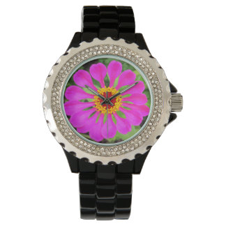 Vivid Pink Flower Petals Watch