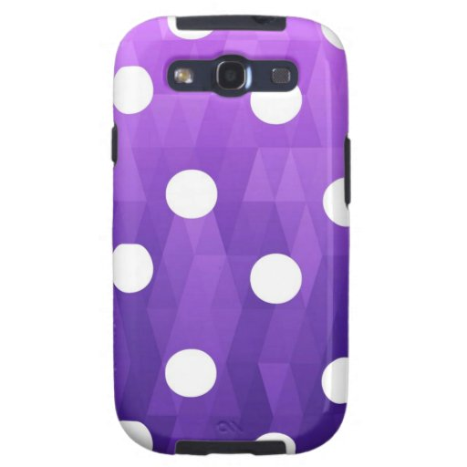 Vivid polka dots  big white purple by healing love galaxy s3 cover