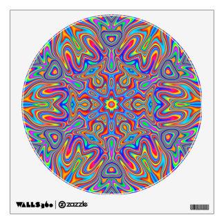 Vivid Psychedelic Mandala Art Wall Sticker