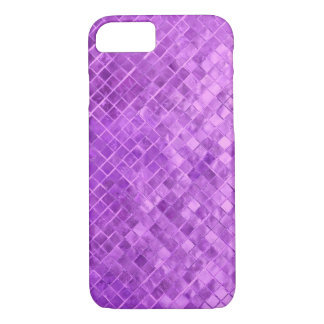 vivid purple diamond metallic tile iPhone 8/7 case