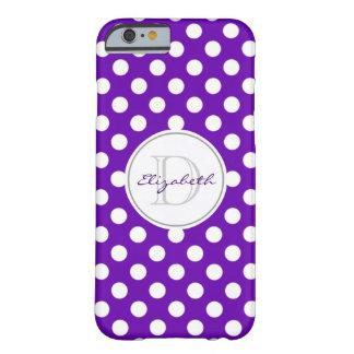 Vivid Purple Polka Dot Monogrammed iPhone 6 Case