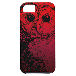 Vivid Red Owl - iphone 5 case