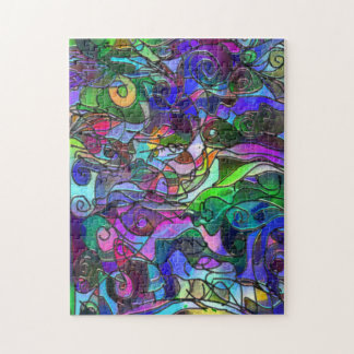 Vivid, Rich Colors: Like Stained Glass Jigsaw Puzzle