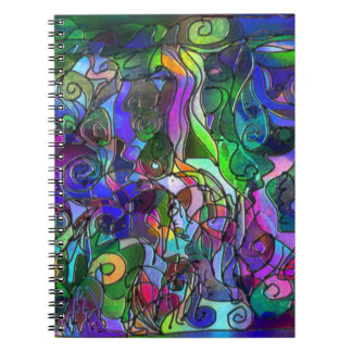 Vivid, Rich Colors: Like Stained Glass Notebooks