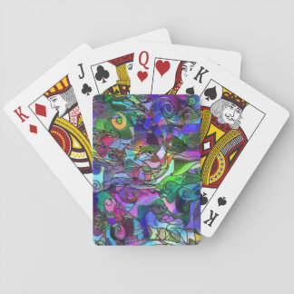 Vivid, Rich Colors: Like Stained Glass Playing Cards