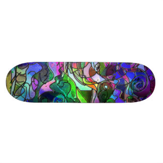 Vivid, Rich Colors: Like Stained Glass Skate Board Decks