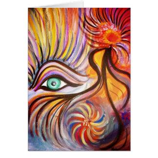 """Vivid Roots"" blank art card"