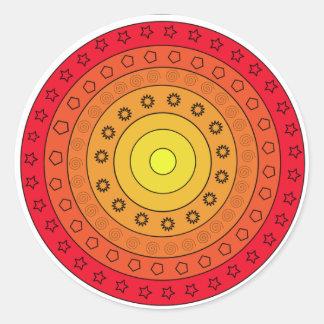 Vivid round sticker