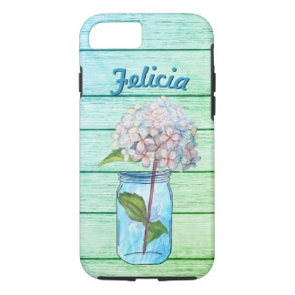 Vivid Rustic Hydrangea in Luminous Blue Jar iPhone 8/7 Case