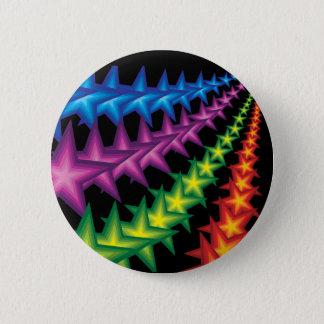 vivid star stripes 2 inch round button