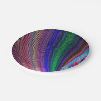 Vivid storm 7 inch paper plate