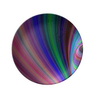 Vivid storm porcelain plate