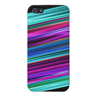Vivid Stripes Fractal iPhone 5/5S Cases
