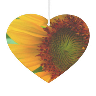 Vivid sunflower car air freshener