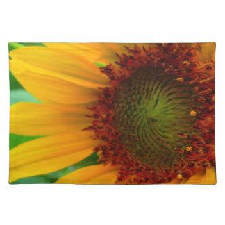 Vivid sunflower placemat