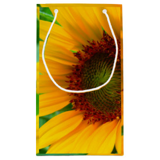 Vivid sunflower small gift bag