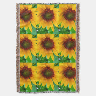 Vivid sunflower throw