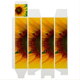 Vivid sunflower wine bottle box