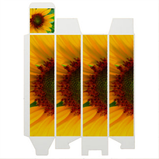 Vivid sunflower wine box