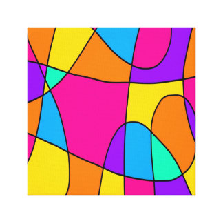 Vivid Swirls Abstract Canvas Print