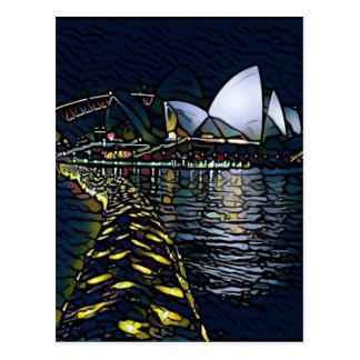 vivid sydney lights postcard