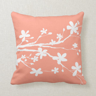 Vivid Tangerine Pretty Picture Throw Pillow