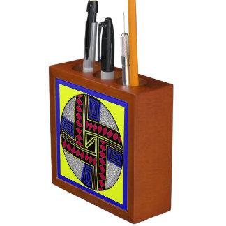 Vivid Tribal Colors Insignia Desk Organizer
