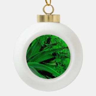 Vivid Tropical Design Ceramic Ball Christmas Ornament