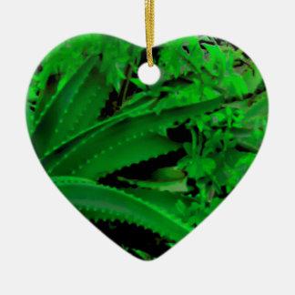 Vivid Tropical Design Ceramic Ornament