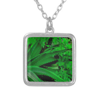Vivid Tropical Design Silver Plated Necklace