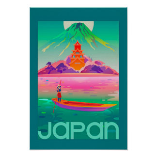 Vivid Vintage Japanese Travel Poster