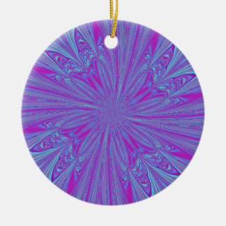 Vivid Vortex Ceramic Ornament