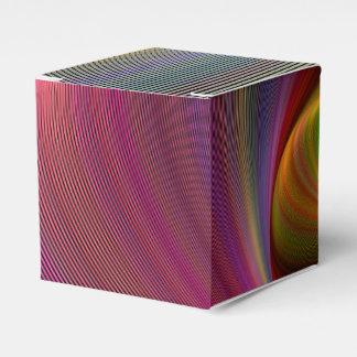 Vivid vortex favor box