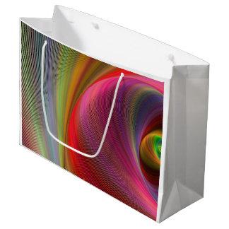 Vivid vortex large gift bag