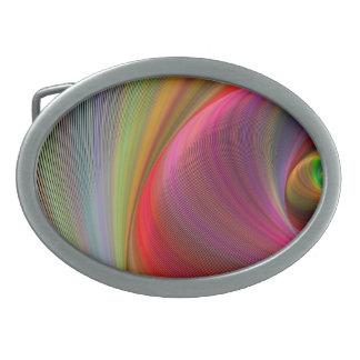 Vivid vortex oval belt buckles