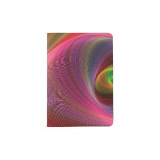 Vivid vortex passport holder