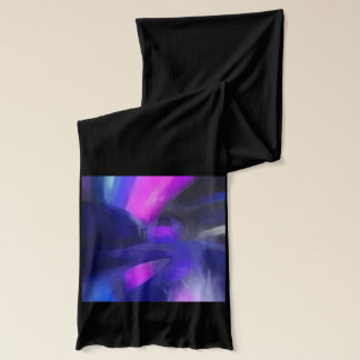 Vivid Waves Pastel Abstract Scarf