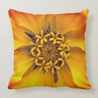 Vivid Yellow Flower Throw Pillow